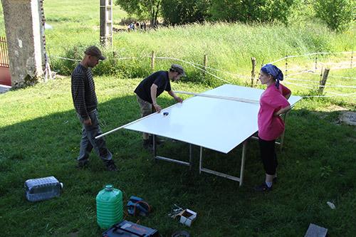 Construction de la plateforme flottante : on mesure